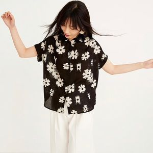 Madewell Central Tunic Shirt in Ikat Floral NWT